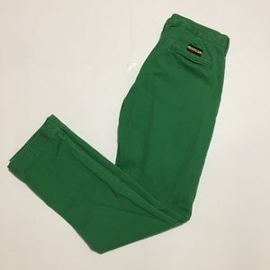RALPH LAUREN Rugby Straight Green Pants 32/34